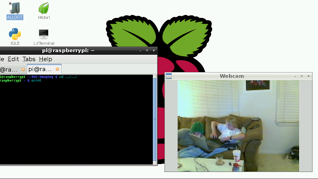 Using a webcam with the Raspberry Pi