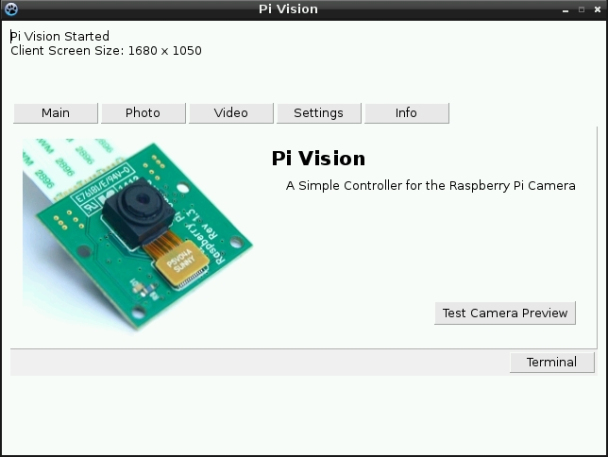 A Raspberry Pi Camera Controller - Hey...What's the BIG idea?
