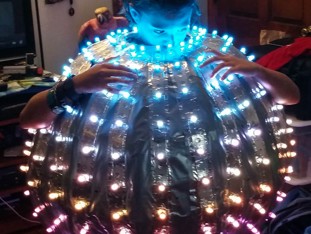 wolfie wanted to build a costume for his 12 year old granddaughter for this halloween he settled on the idea of a giant wearable disco ball as you do and