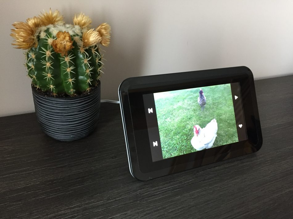 Connected picture frame is an Internet of Things device running from ...
