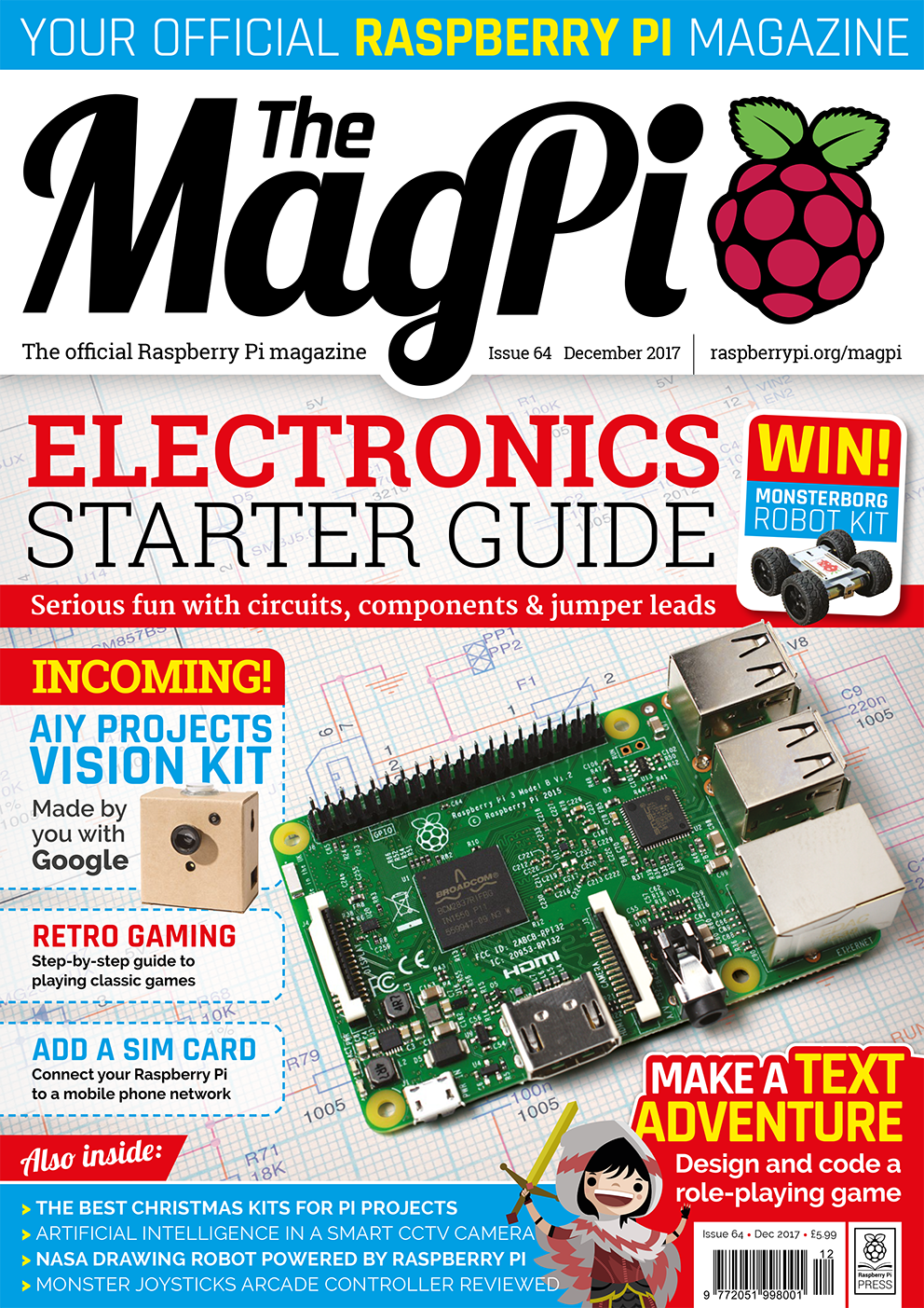 New Magpi Issue Celebrates Beginning Electronics Text Adventures Electronic Circuit Kits Uk The Of Number 64 Seeks To Be An Starter Guide With Explanation Normal Components And Some Simple Projects Get