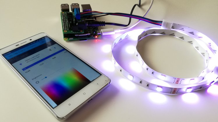 Control 12V RGB LED strips from your Raspberry Pi with the